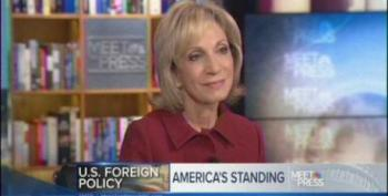 Now Andrea Mitchell Is Worried About US Standing In The World?