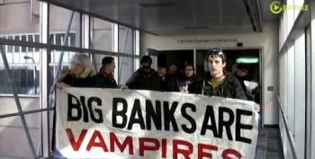 'Vampires' March Against JPMorgan Chase