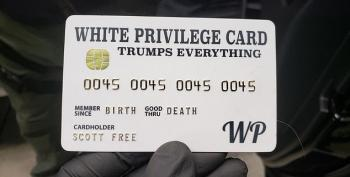 Just Another Right-Wing Extremist With A 'White Privilege' Card