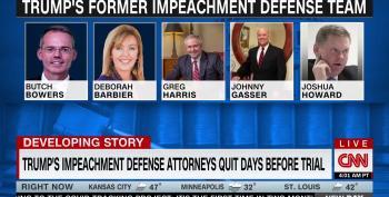 Trump's Entire Legal Team Bails On Him Just Days Ahead Of Senate Impeachment Trial