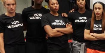 Even Atlanta Dream Players Wore 'Vote Warnock' Tshirts For Photo