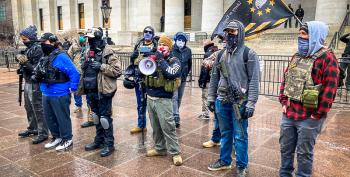 Proud Boys Advance On Ohio Statehouse During Armed Protest