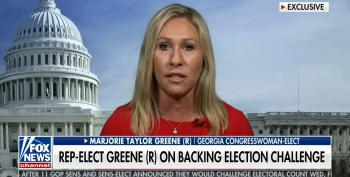 QAnon Whackaloon Rep. Marjorie Taylor Greene: It's 'Possible Trump Loyalists Will Overturn The Election