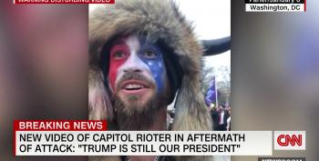 New Video Of 'QAnon Shaman' Proves Rioters Took Their Cues From Trump