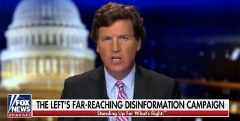 Tucker Carlson Gaslights: 'There Is No Evidence Of QAnon'