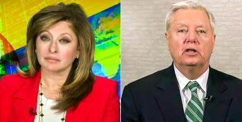 Maria Bartiromo Laughs In Lindsey Graham's Face After He Fear Mongers About '1 Million' Migrants