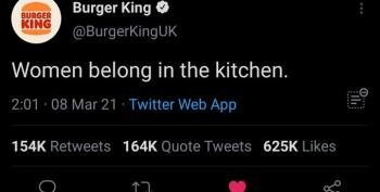 Burger King Gets Burnt After Misogynistic Tweet On Women's Day