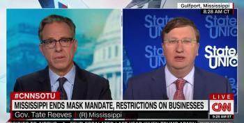 Jake Tapper Grills Mississippi Governor Over Decision To Lift Mask Mandate