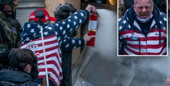 Capitol Hill Rioter Who Attacked Police With Fire Extinguisher Identified By Online Sleuths