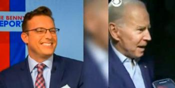 Newsmax Adds Laugh Track To Biden Stutter