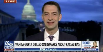 Tom Cotton Is Very Angry About His Racial Bias 'Slandering America'