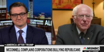 At Least Mitch McConnell Got Bernie Sanders To Laugh