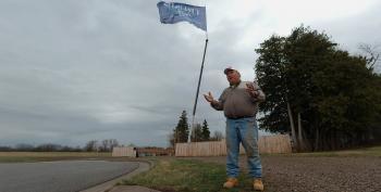 Minnesota Man Flies 50'x30' Trump 2020 Flag