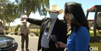 Reporter Swarmed By Fake Police At Arizona Fake Audit