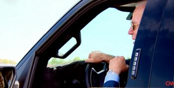 Joe Biden Thrilled To Cut Loose On Ford Test Track With New Electric Truck