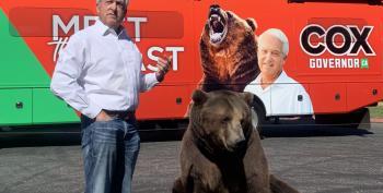 GOP 'Beast' Candidate John Cox Brings A Bear To Campaign Kickoff