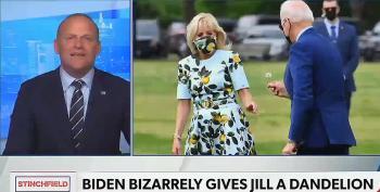 Newsmax Host Flips Over Biden Giving His Wife A Dandelion