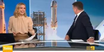 Australian TV News Team Has Fun With Bezos' Rocket