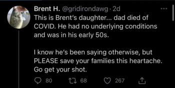 The Story Of Brent H. - A Cautionary COVID Tale