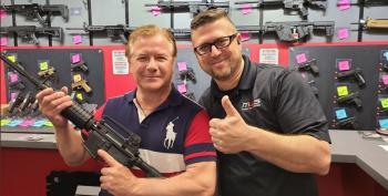 Despite Court Order, Mark McCloskey Shows Off A New Gun