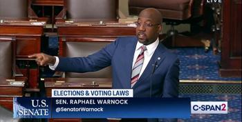 Georgia's Senator Reverend Brings Fire Over Voting Rights