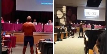 Parent Removes His Clothes At School Board Meeting