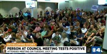 Attendee At Meeting To Overturn Mask Mandate Tests Positive For COVID