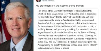 Mo Brooks Stands With Domestic Terrorists