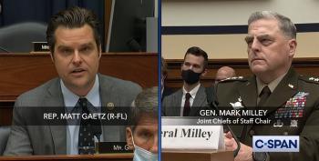Alleged Sex Trafficker Matt Gaetz Attacks Gen. Milley's Credibility