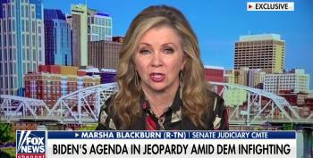 Blackburn Spews Unhinged Conspiracy Theories About Infrastructure Bill