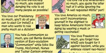 Cartoon: True Patriot Checklist