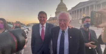 Manchin And Sanders: We're Talking Here!