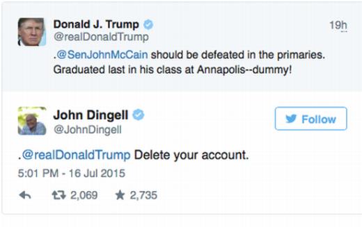'The Dean Of Twitter' John Dingell Pwns Donald Trump ...