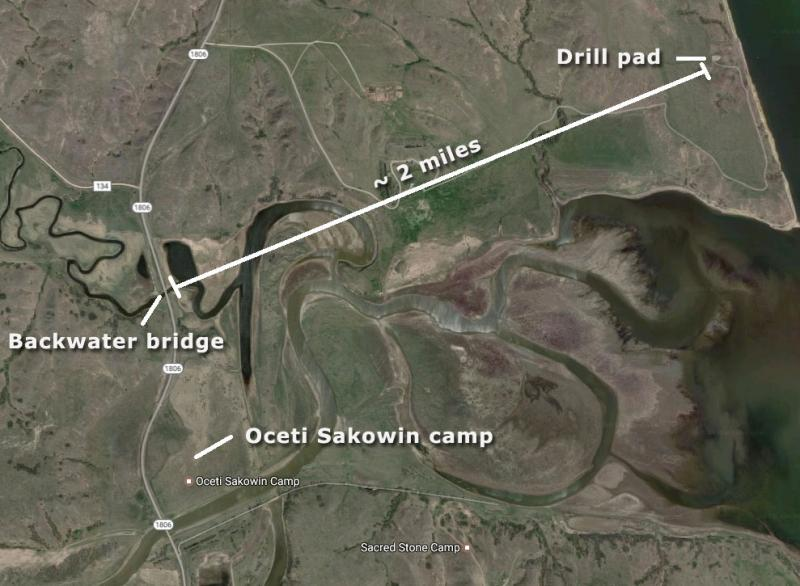 Map of DAPL area near Missouri River