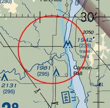 The TFR over Cannon Ball, ND
