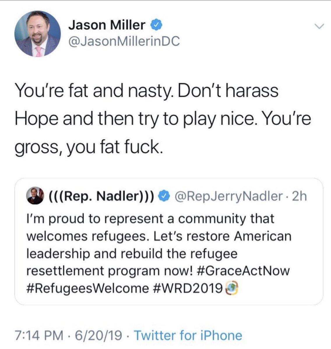 Jason Miller Shuts Down His Twitter Account After Calling Jerry Nadler 'A Fat F*ck'
