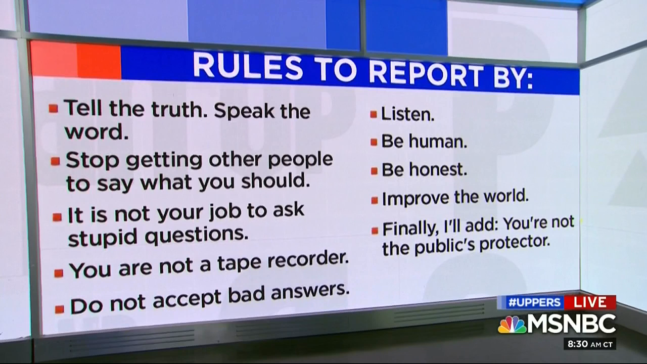 Jeff Jarvis' Rules For Journalists