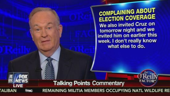 Bill O'Reilly Fires Back At Ted Cruz   Crooks and Liars