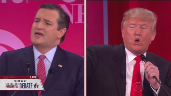 Ted Cruz And Donald Trump Shoot Each Other In Debate