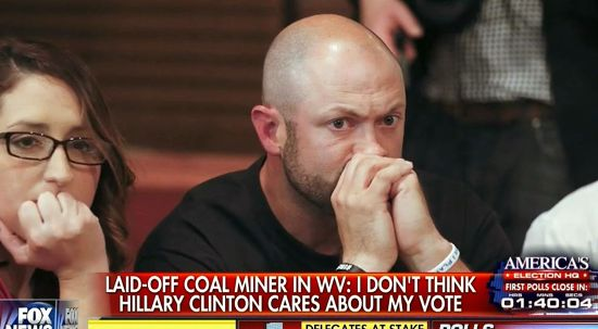 Image result for unemployed coal miner trump