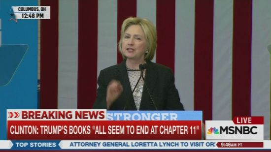 hillary clinton warns trump s tiny hands should be nowhere near the
