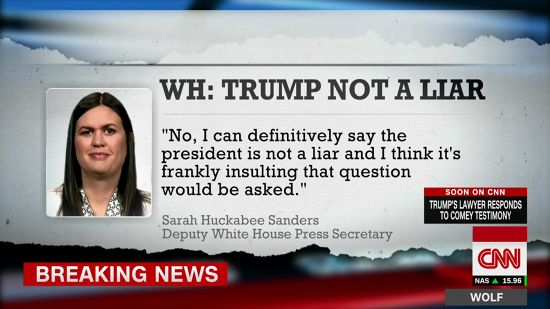 Lying Liar Huckabee Sanders Joins Lying Liars At Fox News