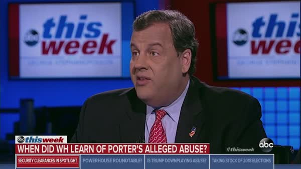 Christie: 'Going To Be Up To The President' Whether Someone Pays A Price On Porter Debacle