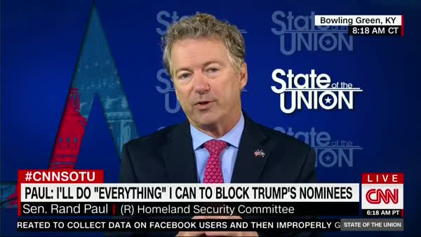 Sen. Rand Paul Vows To Filibuster Pompeo, Haspel