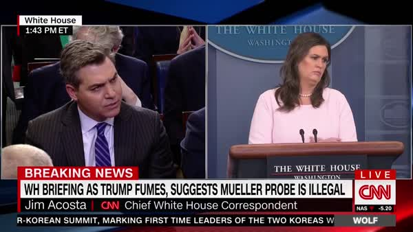 Sarah Huckabee Sanders Stumbles On Her Lie About Trump's 'Breeding' Reference