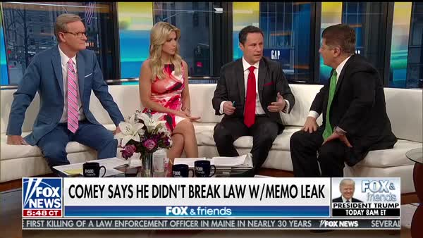 Fox & Friends sent a misleading tweet. Then Trump accused James Comey of a  crime.
