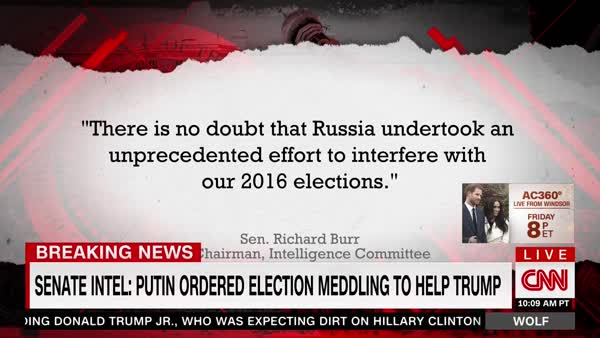 photo image Senate Intel Leaders: Putin Tried To Help Trump Win 2016 Election