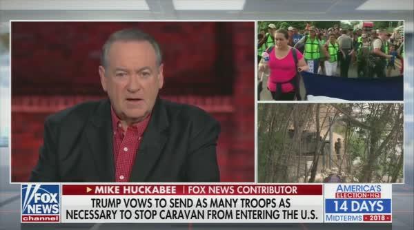 Mike Huckabee Trumpets Phony Voter Fraud Lunacy, Migrant Caravan Is 'Registration Line' For Dems