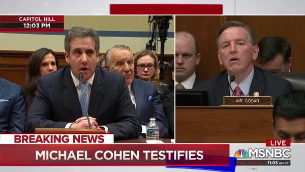 Image result for rep. paul gosar michael cohen hearing