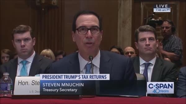photo image Mnuchin Swears Under Oath He's Not Taking Orders From Trump On Tax Returns